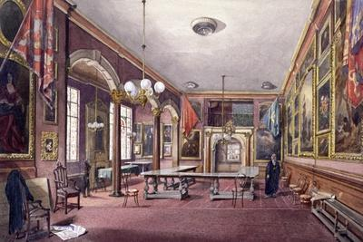 Interior of Painter-Stainers' Hall, London, 1888