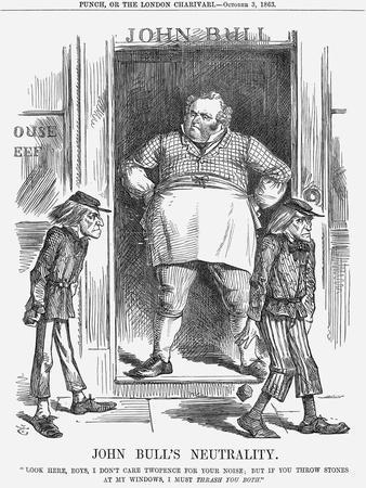 John Bull's Neutrality, 1863