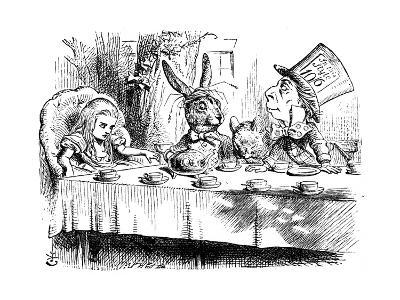 Scene from Alice's Adventures in Wonderland by Lewis Carroll, 1865