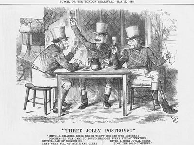 Three Jolly Post Boys!, 1888