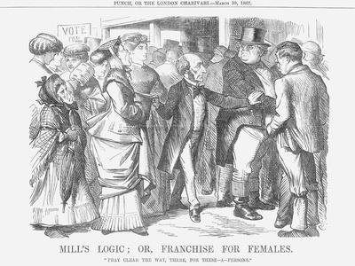 Mills Logic; Or, Franchise for Females, 1867