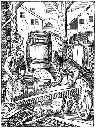 A Cooper's Workshop, 16th Century
