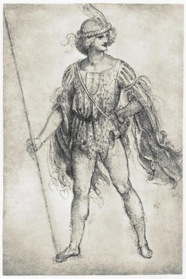 Youth In A Masquerade Costume 1506 1507 Giclee Print Leonardo Da Vinci Allposters Com