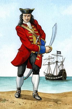 John 'Calico Jack' Rackham, (1680-172), English Pirate Captain