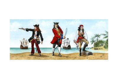 Anne Bonny, John 'Calico Jack' Rackam and Mary Read, 18th Century Pirates