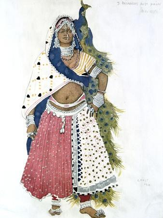 Bayadere with Peacock, Ballet Costume Design, 1911