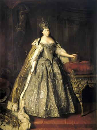 Portrait of Empress Anna Ioannovna, (1693-174), 1730