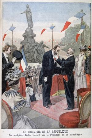 Jules Dalou Being Awarded with the Medal of the Legion of Honour, 1899