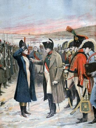 Napoleon Presenting Female Officer Marie Schellinck with the Legion D'Honneur, 1808