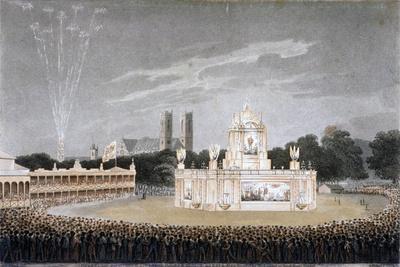 Firework Display in Green Park, Westminster, London, 1814