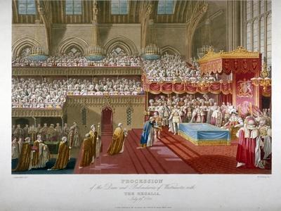 Coronation of King George IV, Westminster Hall, London, 1821