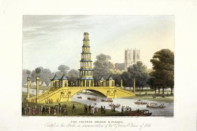 The Chinese Bridge and Pagoda, Erected in St James's Park, London, 1814