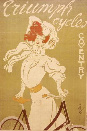 Poster Advertising Triumph Bicycles, 1907