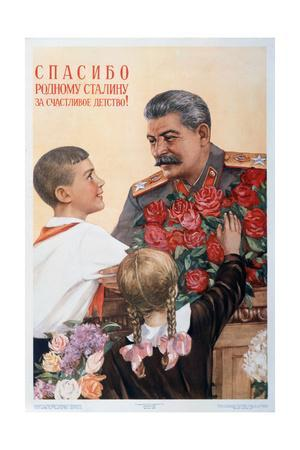 Thanks to Beloved Stalin for Our Happy Childhood!, 1950