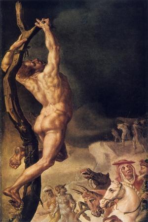 Calvary, Detail from Left Side Panel, 1545-1550