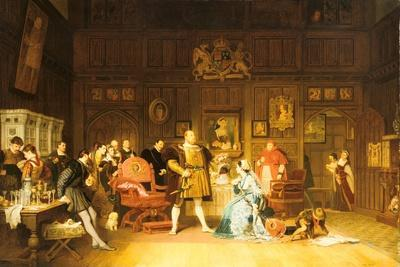 Henry VIII and Anne Boleyn Observed by Queen Catherine, 1870