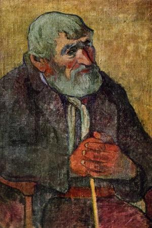 Portrait of an Old Man with a Stick, 1889-1890