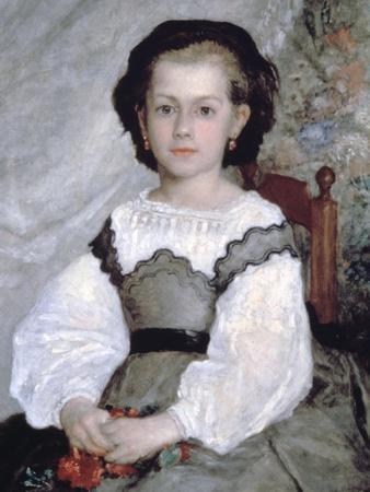 Mademoiselle Romaine Lacaux, (Detail), 1864