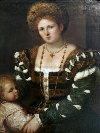 Portrait of a Lady with Her Son, Mid-1530S