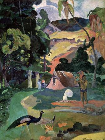 Matamoe (Death, Landscape with Peacock), 1892