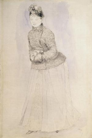Woman with a Muff, C1883-C1884