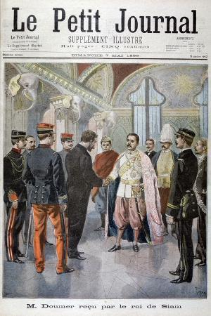 Paul Doumer, Governor General of Indochina, Received by the King of Siam in Bangkok, 1899