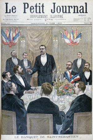 Banquet of French Nationalist and Paul Déroulède, Saint-Sebastien, Belgium, 1900