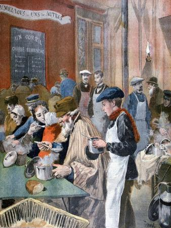 Charity of the Students; the Soup Kitchen at Butte-Aux-Cailles, Paris, 1894
