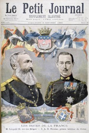 King Leopold II of Belgium and Prince Nicholas of Greece and Denmark, 1895