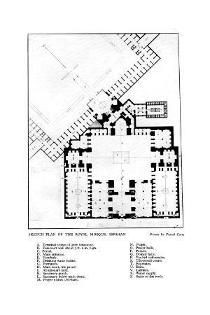 Sketch Plan of the Royal Mosque, Isfahan, 1931