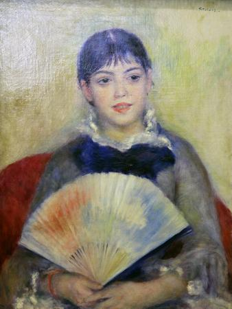 Young Woman with a Fan, 1880