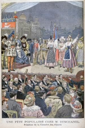 Festivity Popular with Paul Deschanel, President of France, 1900