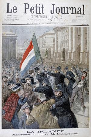 Demonstration Against Joseph Chamberlain, Ireland, 1899