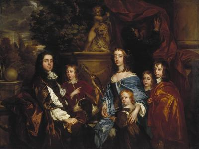 Sir Edward Hales and His Family, 1656