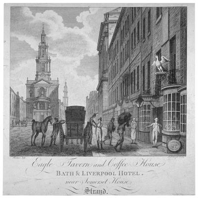 Outside the Eagle Tavern and Coffee House, Bath and Liverpool Hotel, London, C1800