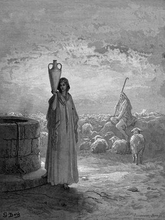 Jacob, Keeping Laban's Flocks, Sees Rachel at the Well, 1866