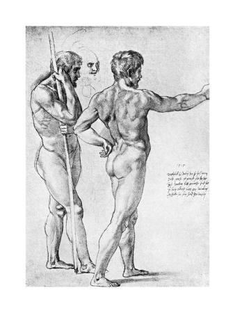 Two Male Nude Studies, 1515