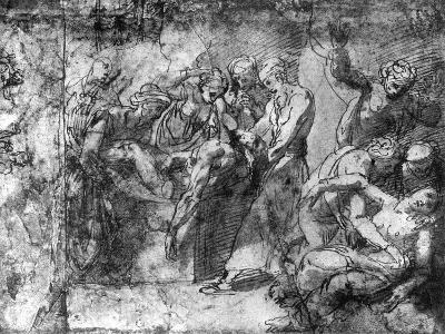 Study for an Entombment, Attributed to Raphael, 1913