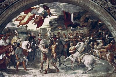 Pope Leo I, Repulsing Attila, (Detail), 1511-14