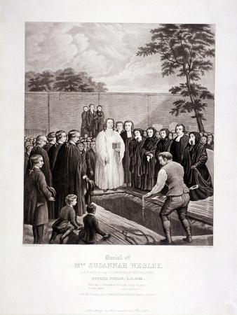 The Burial of John Wesley's Mother in Bunhill Fields, Finsbury, London, 1866