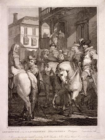 Departure of the Canterbury Pilgrims, Borough High Street, Southwark, London, 1787
