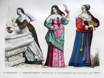 Chambermaid, Lady and Provincial Bourgeoise Lady, 1640 (1882-188)