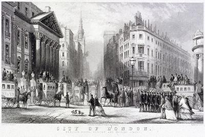 Mansion House (Exterior), London, C1855