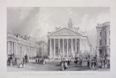 Bank of England, Threadneedle Street, London, C1850