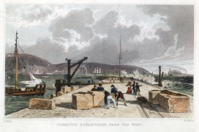 Plymouth Breakwater from the West, 1829