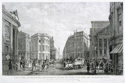 View of the Architectural Improvements in the Vicinity of the Bank, and the Mansion House, C1837