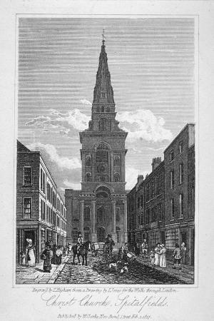 View of Christ Church, Spitalfields, London, 1817