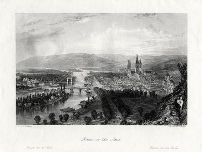 Rouen on the Seine, France, 1875