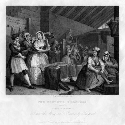 In Bridewell Beating Hemp, Plate IV of 'The Harlot's Progress, 1833