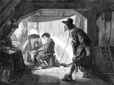 Young Rubens Surprised by His Master, Van Noort, 1875